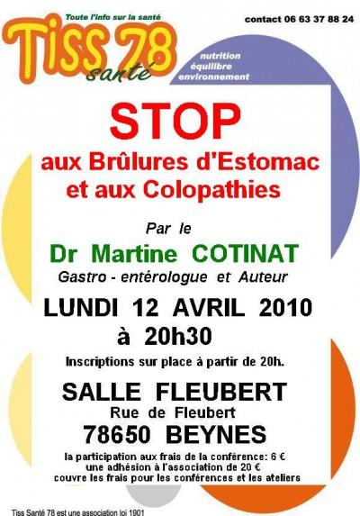 Stop aux brûlures d'estomac  Martine Cotinat