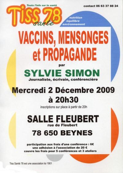 Conférence vaccins Sylvie Simon