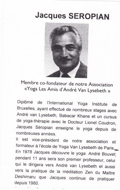 Jacques Séropian  Yoga