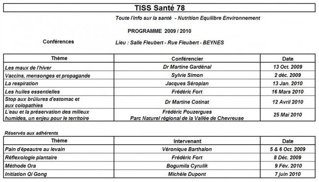 programme 2009 - 2010