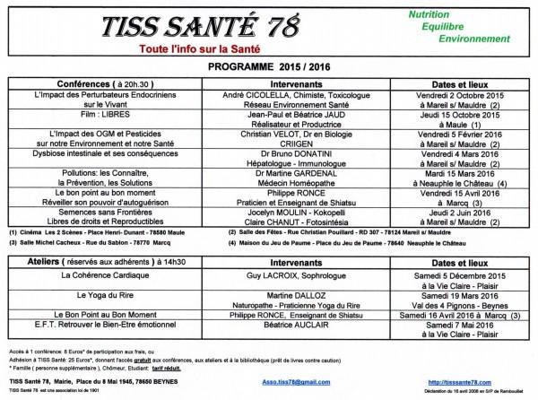 Programme au 13-04