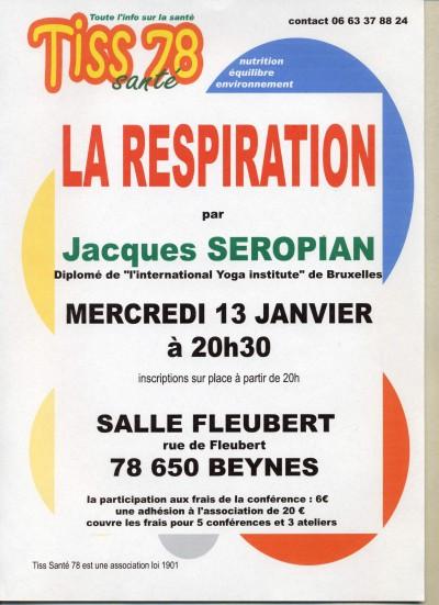 la Respiration Jacques Séropian